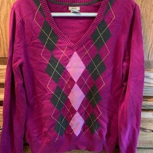 Izod Argyle V-Neck Sweater